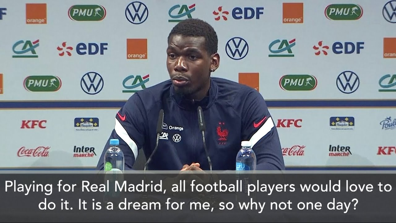 Paul Pogba Says It's His 'Dream' To Play For Real Madrid - YouTube