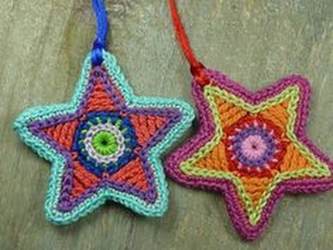 Free Crochet Pattern Christmas Star : CROCHET CHRISTMAS STAR PATTERNS - YouTube