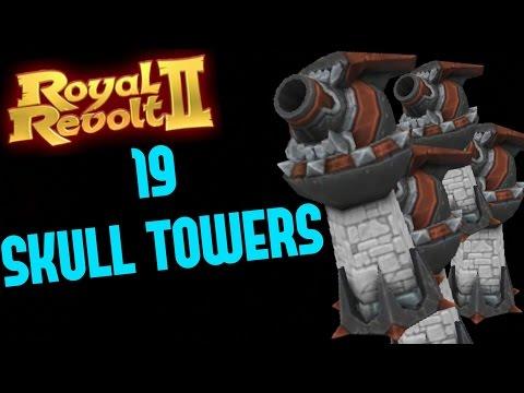 ROYAL REVOLT 2 - 19 MAX SKULL TOWERS GAMEPLAY