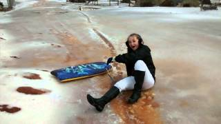 @ZoeyPetty Boogie Boarding on Ice