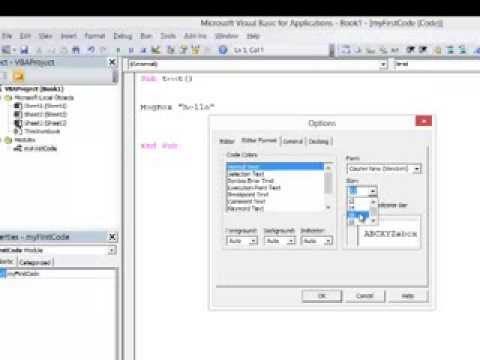 1. Introduction to Programming with VBA - The Integrated Development Environment