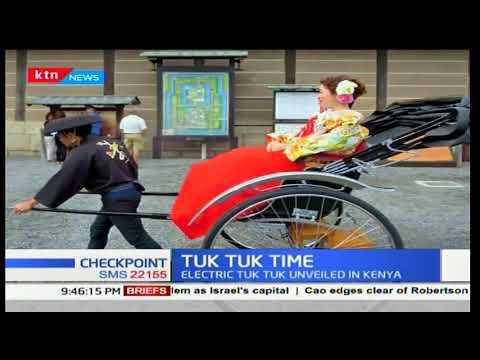 Dave Tuk Tuk unveils Kenya's first eco-friendly rickshaw electric charged Tuk Tuk