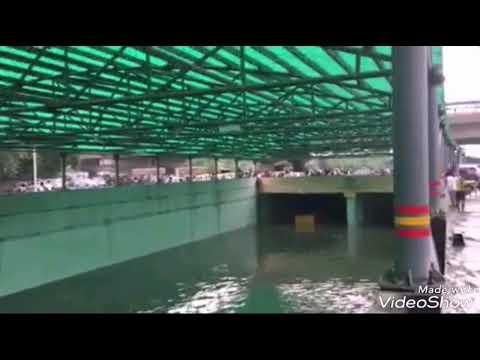 Havey rainy After Rajib chowk,Subhas chowk,Hero honda chowk,Iffco chowk in Gurgaon