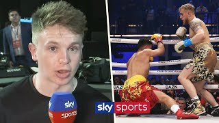 Joe Weller's immediate reaction to Jake Paul's stoppage win over AnEsonGib