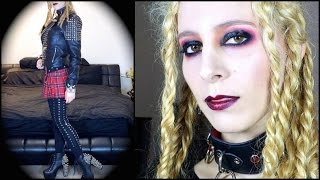 Grunge Slick Eye Makeup tutorial: GRWM Courtney Love Gig + OOTD ft Makeup Geek, Sugarpill & Romwe Thumbnail