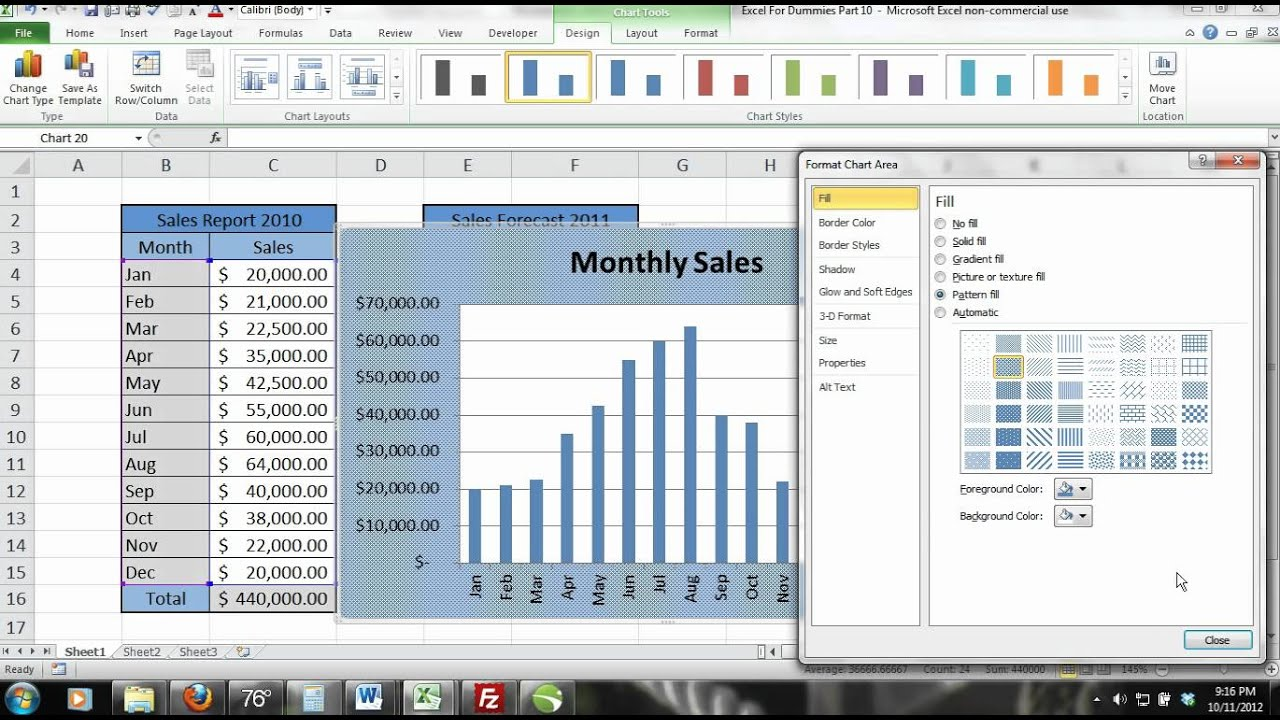 Excel For Beginners Tutorial Part 9: Creating a 2-D Bar Chart With ...