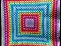 Manta Cuadrado Granny Crochet Ganchillo