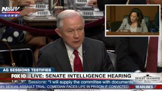 HEATED: Sen. Kamala Harris vs. AG Jeff Sessions - Senate Intelligence Committee Hearing (FNN)