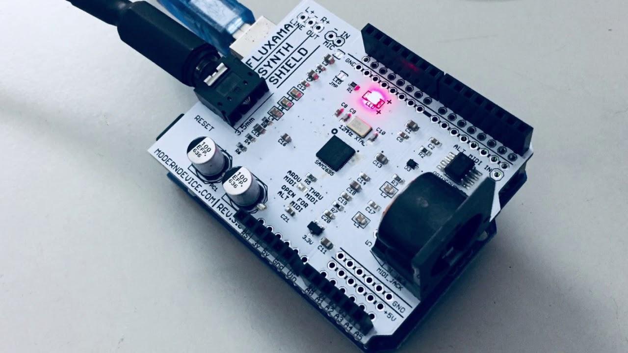 Fluxama Synth Shield Demo (Arduino General MIDI shield)