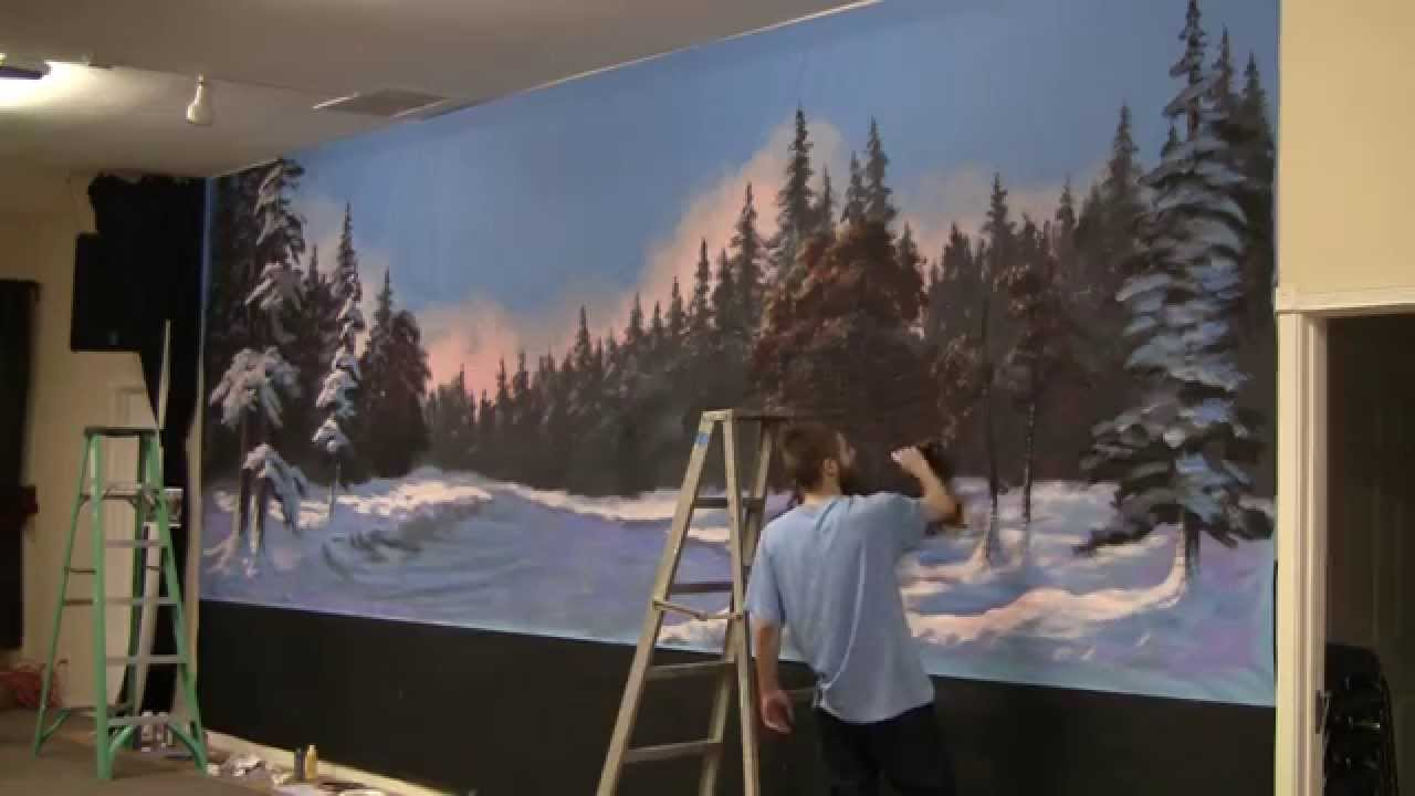 Paint with kevin hill winter glow mural youtube amipublicfo Gallery