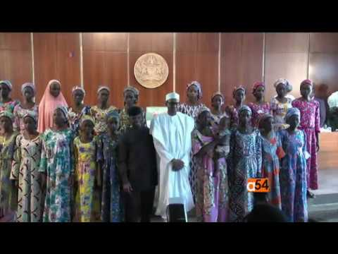 Released Chibok Girls Meet with Nigerian President
