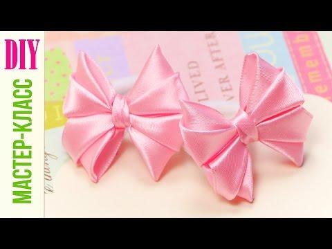 Цветы из лент для начинающих / Канзаши из атласных лент для начинающих / DIY ribbon flower kanzashi