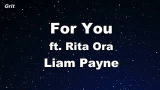 Download Lagu For You - Liam Payne, Rita Ora Karaoke 【With Guide Melody】 Instrumental Mp3