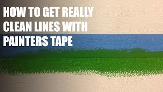 How to get clean lines with painters tape