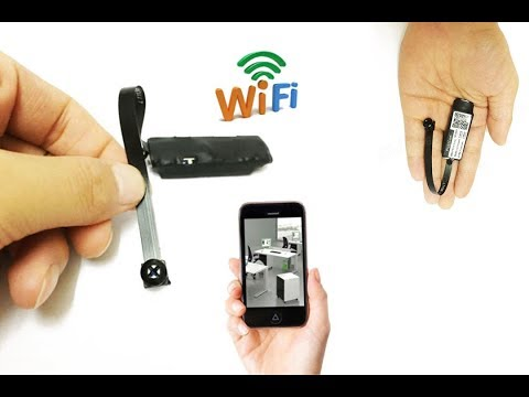 wireless spy IP WIFI mini DIY pinhole hidden nanny black Screw micro camera dvr