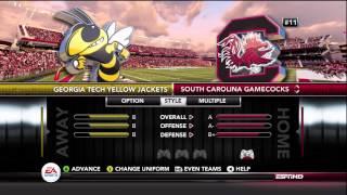 NCAA Football 13 Team Ratings & Rankings