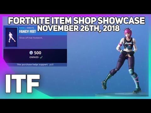 Fortnite Item Shop FANCY FEET IS BACK! [November 26th, 2018] (Fortnite Battle Royale)