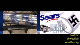 Baba Dick Gregory On Sears Swastika Nazi Rings & Walgreens Swastika Gift Wrapping Paper