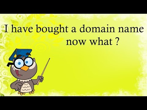 I have Bought a Domain Name now what ?