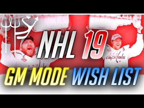 My NHL 19 Franchise Mode WISH LIST