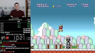 (36:37 D-4 / 22:02 8-4) Lost Levels Warpless D-4 (Mario) speedrun