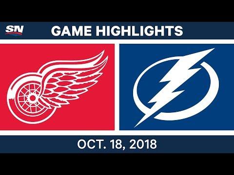 NHL Highlights | Red Wings vs. Lightning - Oct. 18, 2018