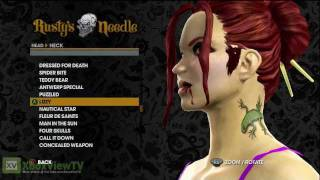 Saints Row: The Third - Customize Tattoos: Sexy Female Character (Part 3 of 3)