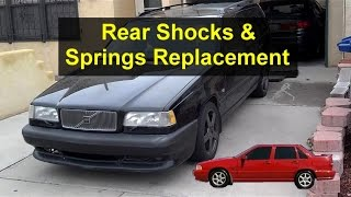 Rear suspension, shocks and springs replacement, P80 Volvo, 850, S70, V70, etc. - VOTD