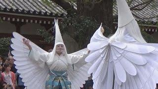 10日、東京・浅草の浅草寺境内で「白鷺の舞」が奉演された。 浅草寺寺舞...