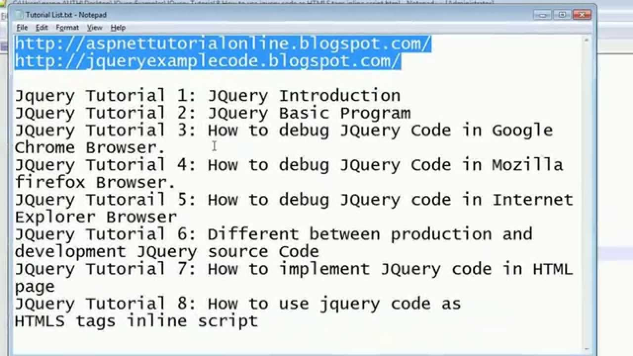 JQuery Tutorial 8 - How to use jquery code as HTML tags ...