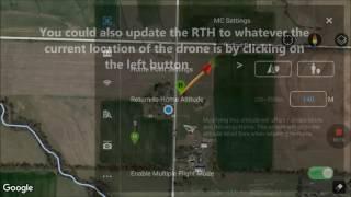 How to Change Return To Home (RTH) Location Coordinates During Flight DJI Phantom 3 Drone DJIGO App