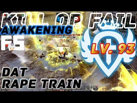 Dragon Nest PvP : Guardian Rape Train Awakening KOF Lv. 93 KDN Spec Mode.