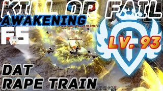 Dragon Nest PvP : Guardian Rape Train Awakening KOF Lv. 93 KDN Spec Mode.