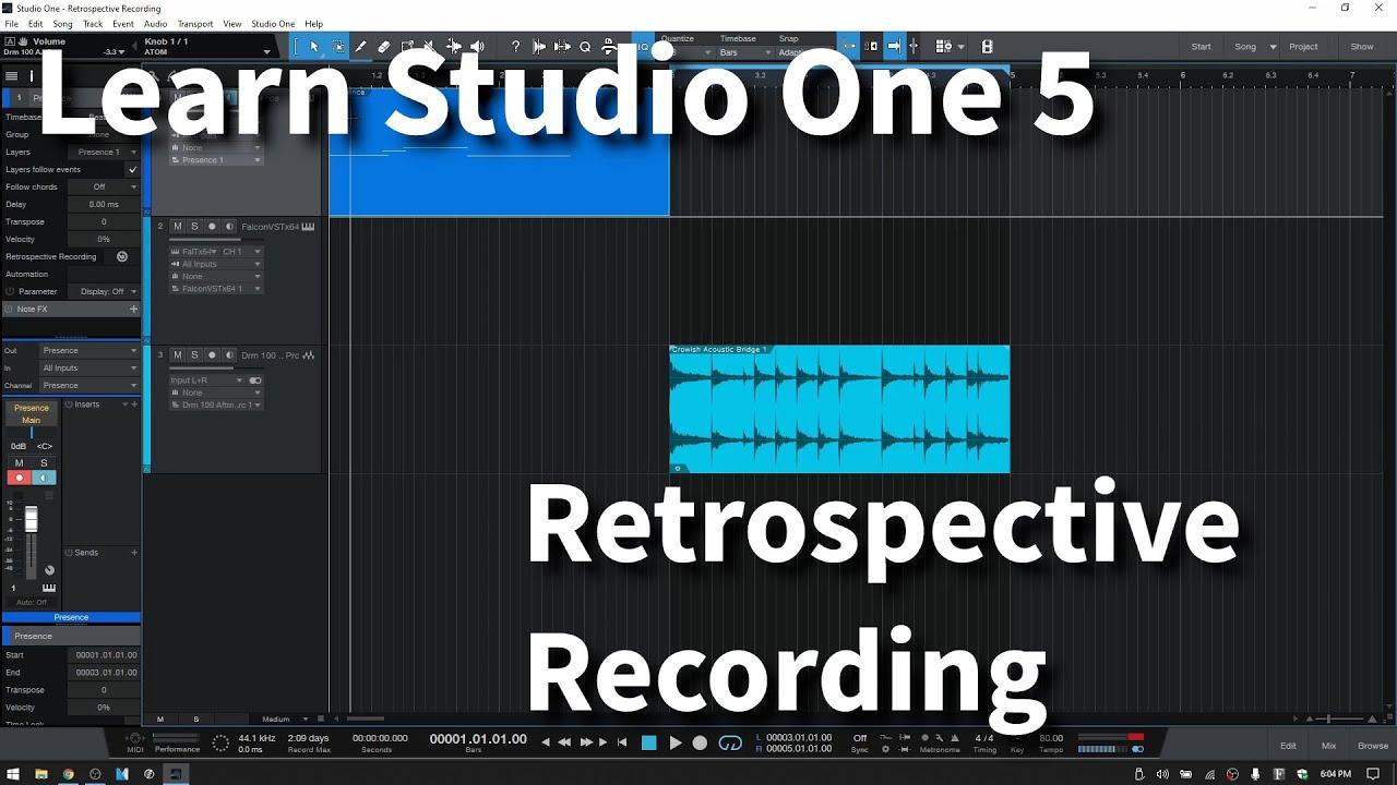 Learn Studio One 5.1 | Retrospective Recording | In Depth - YouTube