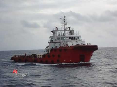 Sailing...AHTS BRAVEHEART to Balikpapan...Total Offshore.