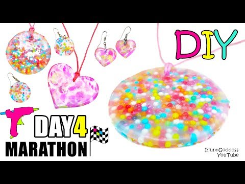 Thumbnail: DIY Jewelry Out Of Hot Glue, Sprinkles And Acrylic Paint - DAY 4 of 7-Day Marathon Of Glue Gun DIYs
