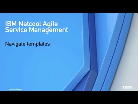 Navigate Templates With Netcool Agile Service Manager
