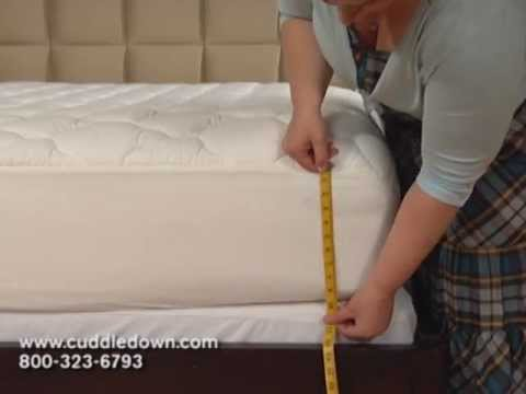 How To Measure Your Bed For A Fitted Sheet Youtube