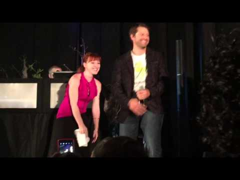 SPN NJCON 2015 - Misha Collins and Ruth Connell Breakdancing at Karaoke