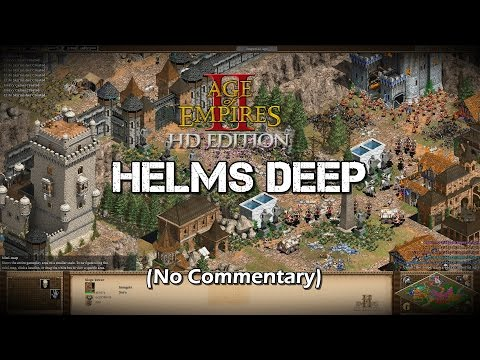 The Battle of Helms Deep (LOTR) | Age of Empires 2 HD Scenario Gameplay (No Commentary)