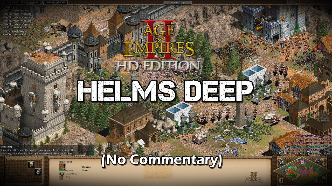 The battle of helms deep lotr age of empires 2 hd scenario the battle of helms deep lotr age of empires 2 hd scenario gameplay no commentary youtube gumiabroncs Images