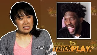 Joel Embiid Pranks Fans By Making Them Lie For Him | Trick Play