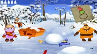 Лунтик лепит снеговика. ЛУНТИК ХОЧУ ЗНАТЬ ВСЕ. Часть 5. Дед Мороз в разных странах мира.