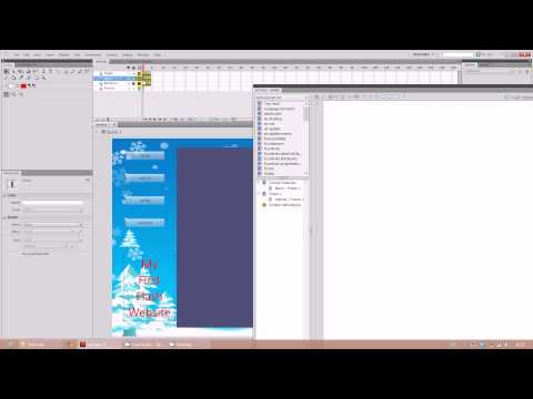 Creating a Website Using Adobe Flash Part 2