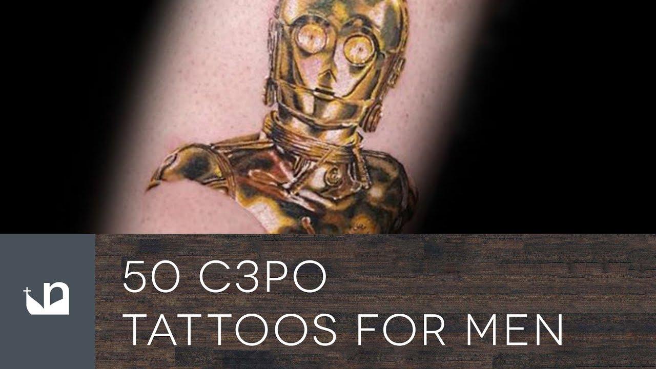 50 C3PO Tattoo Ideas For Men – Star Wars Designs