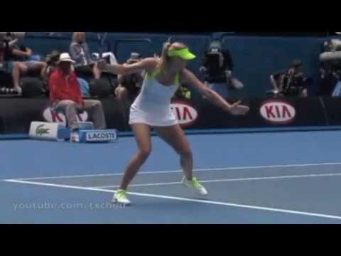 Maria Sharapova Forehand In Super Slow Motion Youtube