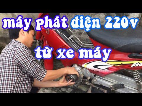Chế Tạo Máy Phát Điện 220V  Từ Động Cơ Xe Máy    Ba Phi Miệt Vườn