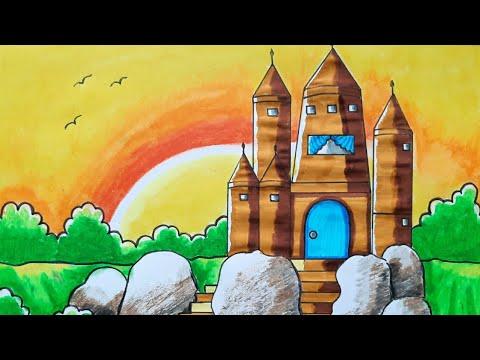 Castle Drawing Scenery/Castle Drawing Scenery Easy
