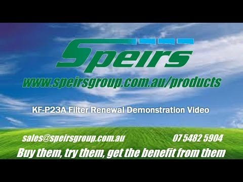 Speirs Group KF P23A Air Purifier filter renewal Demo