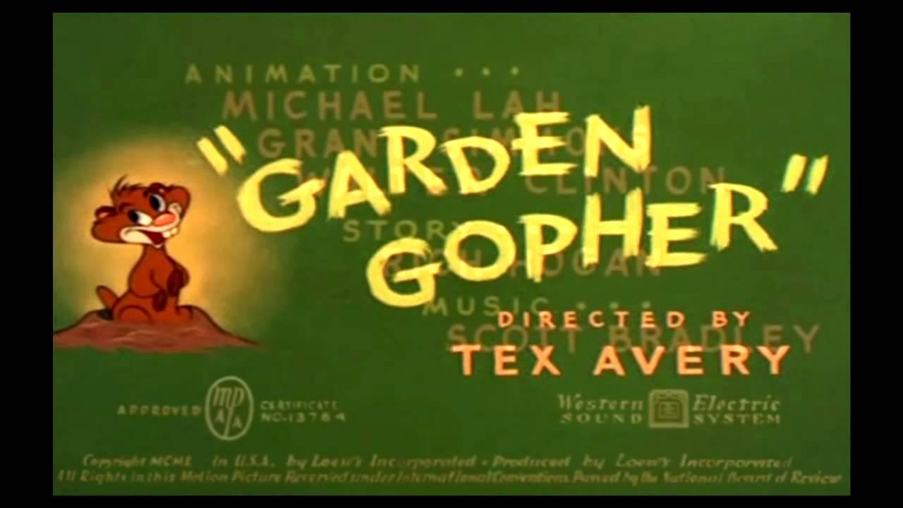 Garden Gopher (1950) - recreation titles - YouTube